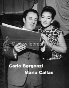Carlo Bergonzi and Maria Callas Carlo Bergonzi and Maria Callas during recording of Tosca in Paris December 1964. Greek-American soprano 3 December 1923 - 16 September 1977.