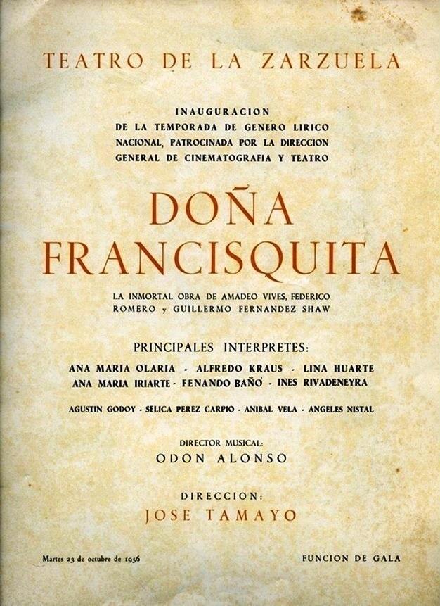 Doña Francisquita - Teatro de la Zarzuela - Costas las de levante