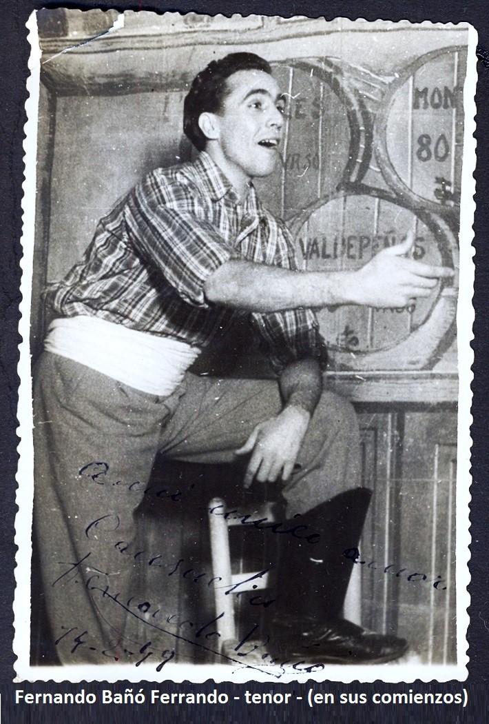 Fernando Bañó Ferrando en sus comienzos
