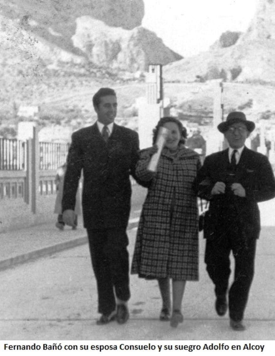 Fernando Bañó con su esposa